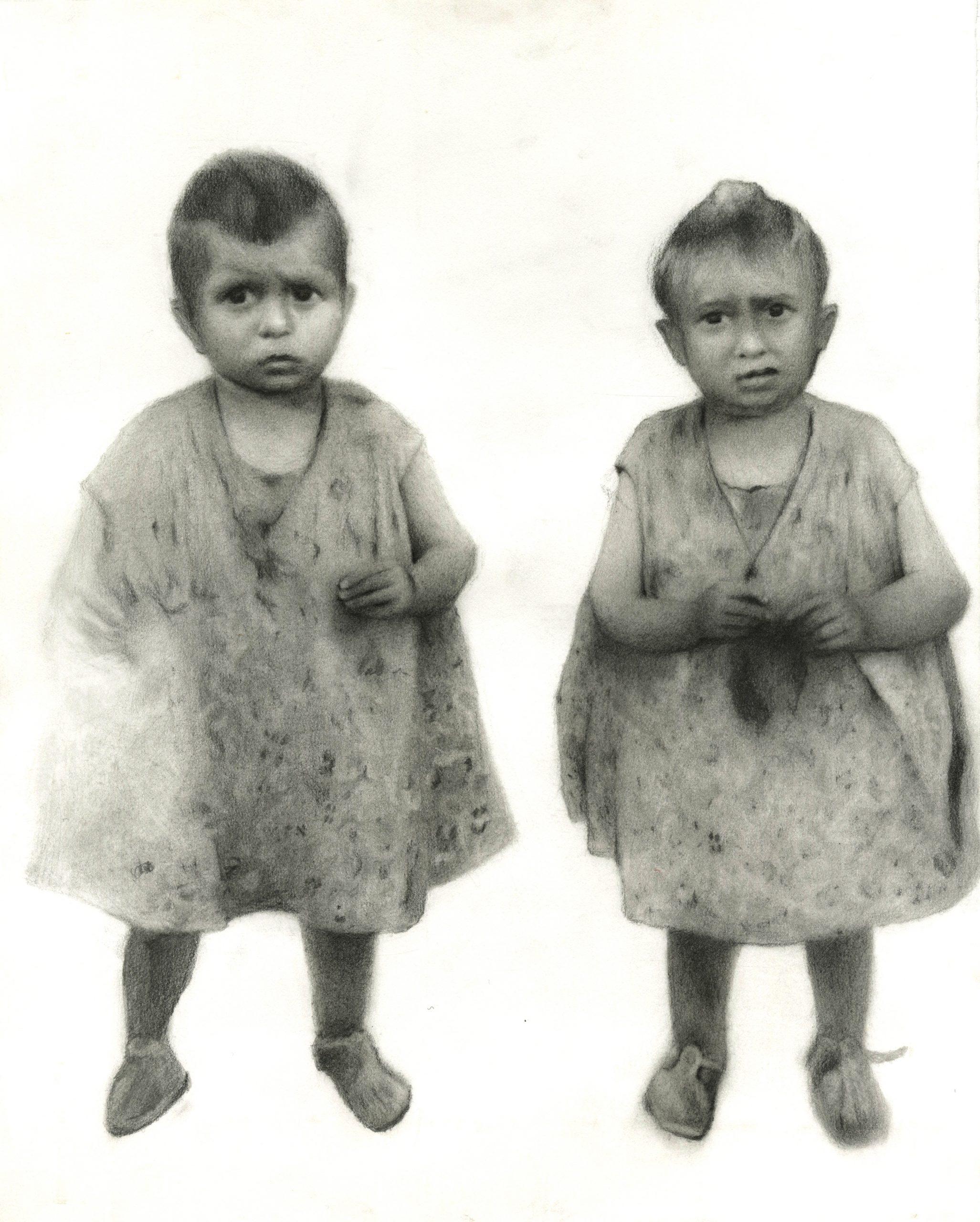 Twins 2019, pencil on paper, 35 x 28.5 cm