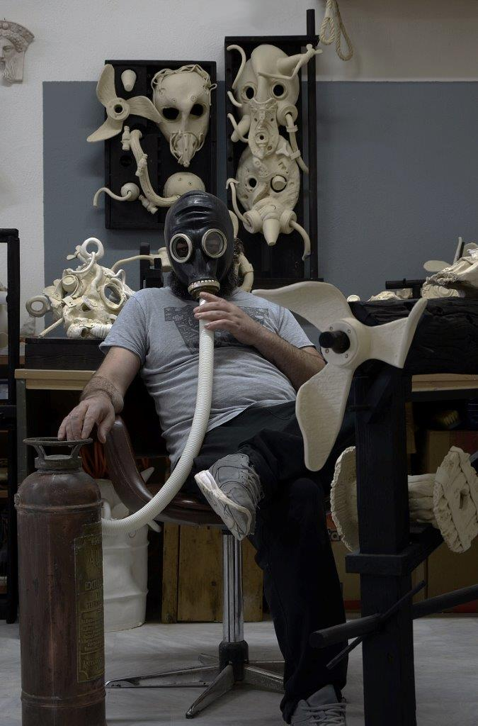 Aris Katsilakis in his atelier.